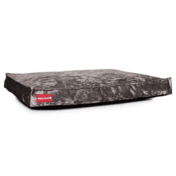 The-Mattress-Orthopedic-Classic-Memory-Foam-Dog-Bed-Glitz-Silver_1