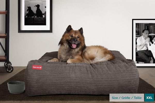 The-Crash-Pad--Memory-Foam-Dog-Bed-Cord-Graphite-Grey_2