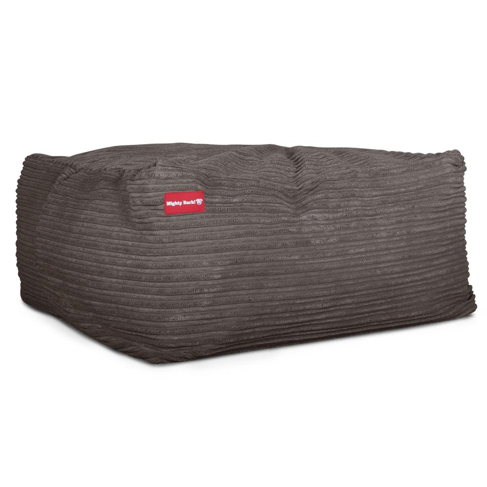 The-Crash-Pad--Memory-Foam-Dog-Bed-Cord-Graphite-Grey_3