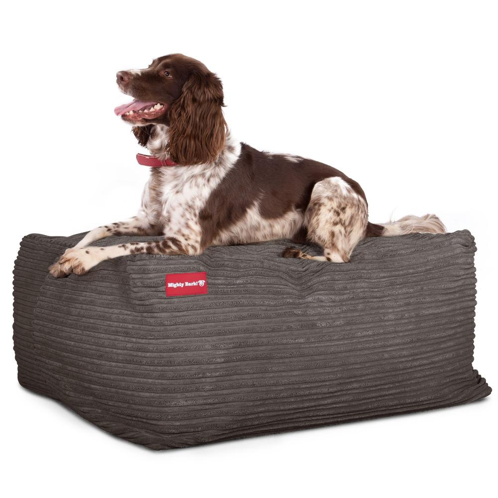 The-Crash-Pad--Memory-Foam-Dog-Bed-Cord-Graphite-Grey_4