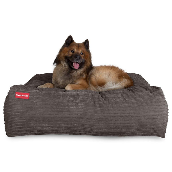 The-Crash-Pad--Memory-Foam-Dog-Bed-Cord-Graphite-Grey_1