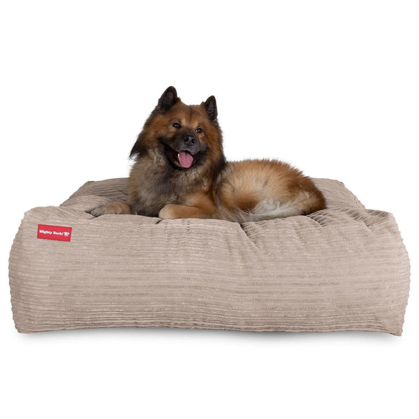 The-Crash-Pad--Memory-Foam-Dog-Bed-Cord-Mink_1