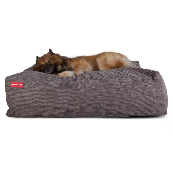 The-Crash-Pad--Memory-Foam-Dog-Bed-Pom-Pom-Charcoal-Grey_1