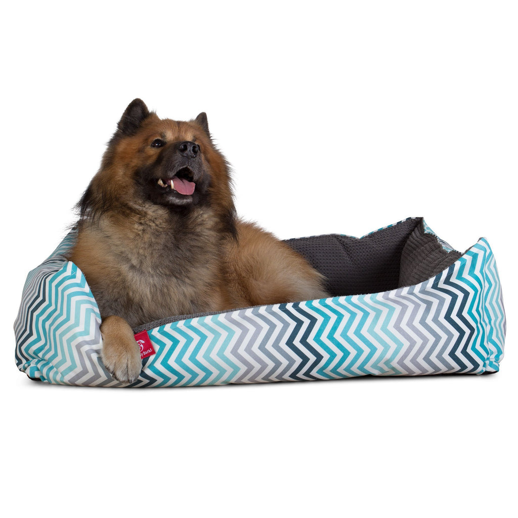 The-Nest-Orthopedic-Memory-Foam-Dog-Bed-Geo-Print-Chevron-Teal_6