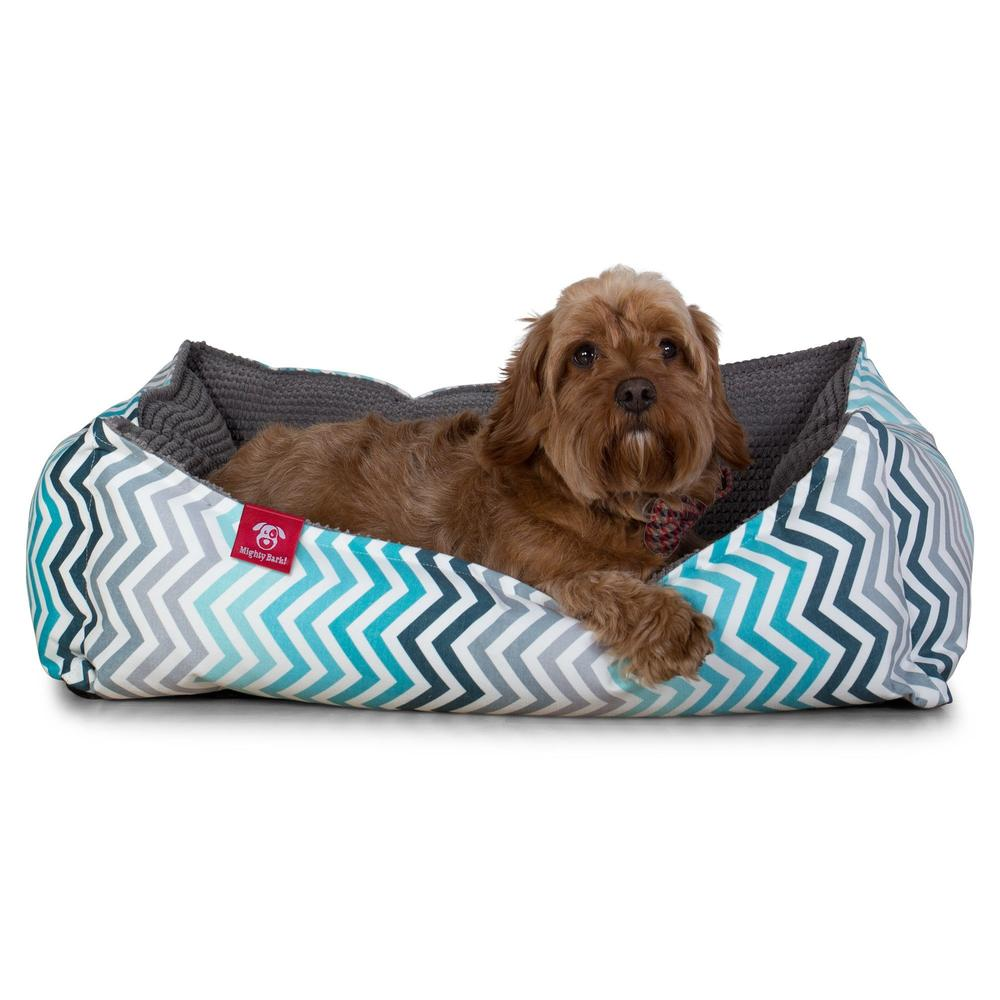 The-Nest-Orthopedic-Memory-Foam-Dog-Bed-Geo-Print-Chevron-Teal_3