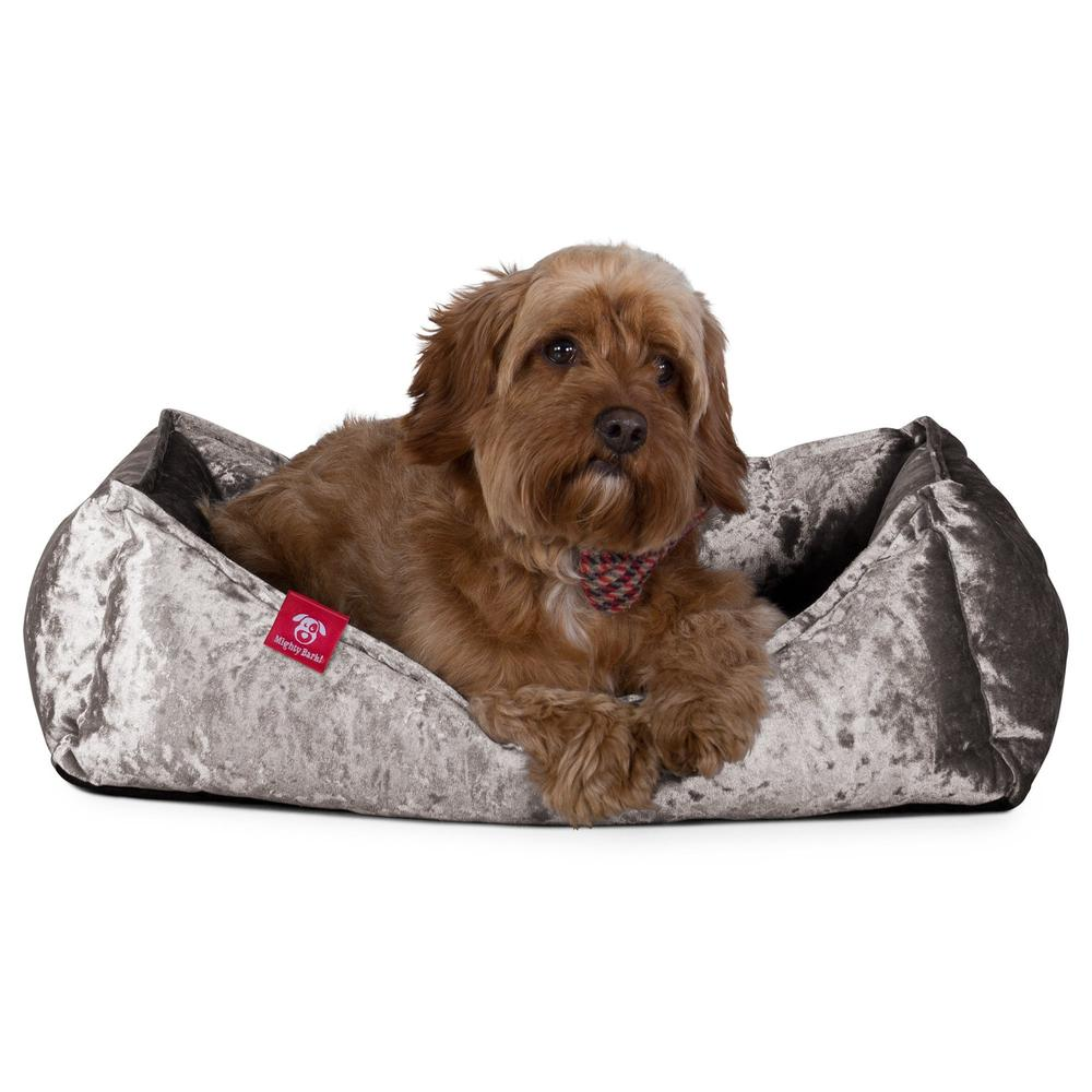 the-nest-orthopedic-memory-foam-dog-bed-glitz-silver_6