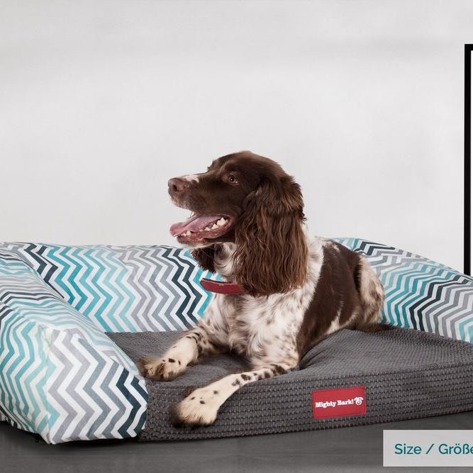 The-Sofa-Orthopedic-Memory-Foam-Sofa-Dog-Bed-Geo-Print-Chevron-Teal_2