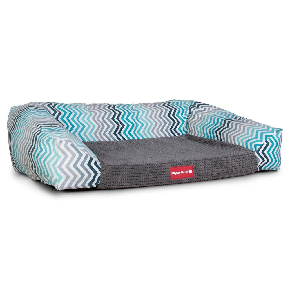 The-Sofa-Orthopedic-Memory-Foam-Sofa-Dog-Bed-Geo-Print-Chevron-Teal_1