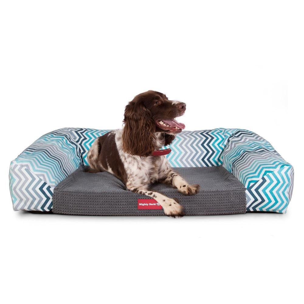The-Sofa-Orthopedic-Memory-Foam-Sofa-Dog-Bed-Geo-Print-Chevron-Teal_3