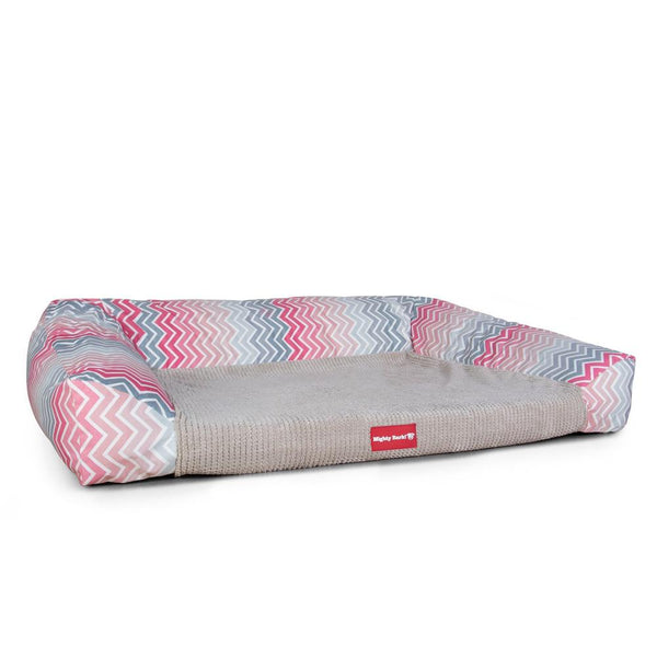 The-Sofa-Orthopedic-Memory-Foam-Sofa-Dog-Bed-Geo-Print-Chevron-Pink_1