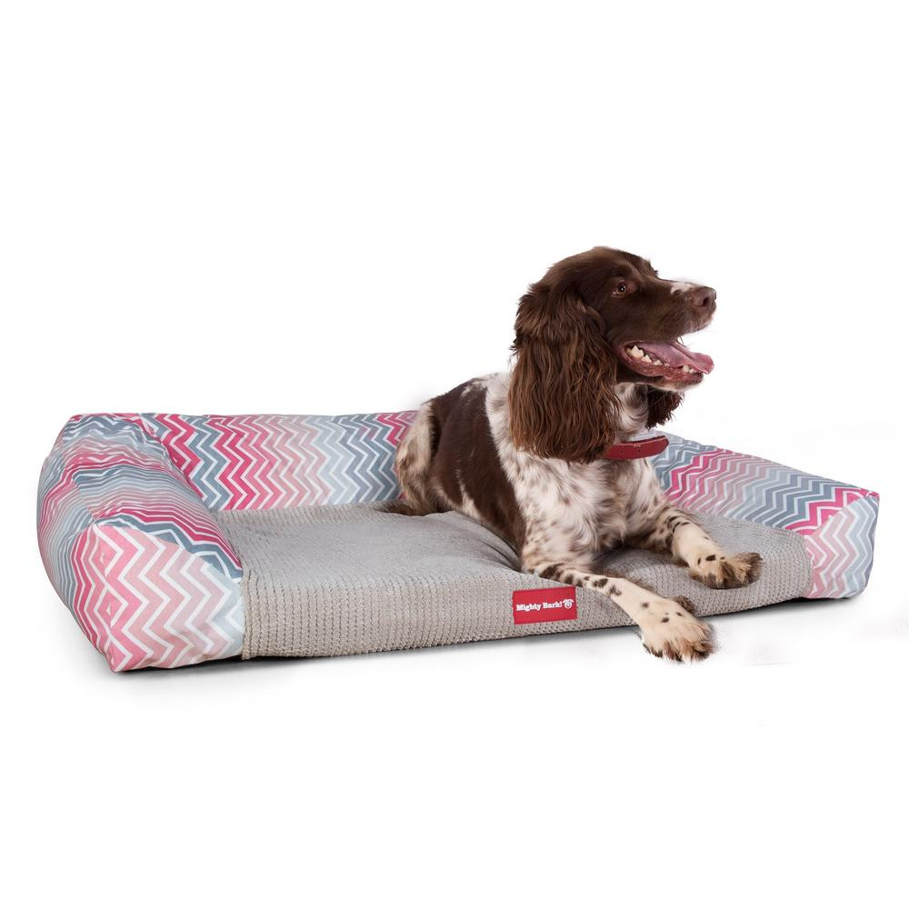 The-Sofa-Orthopedic-Memory-Foam-Sofa-Dog-Bed-Geo-Print-Chevron-Pink_3
