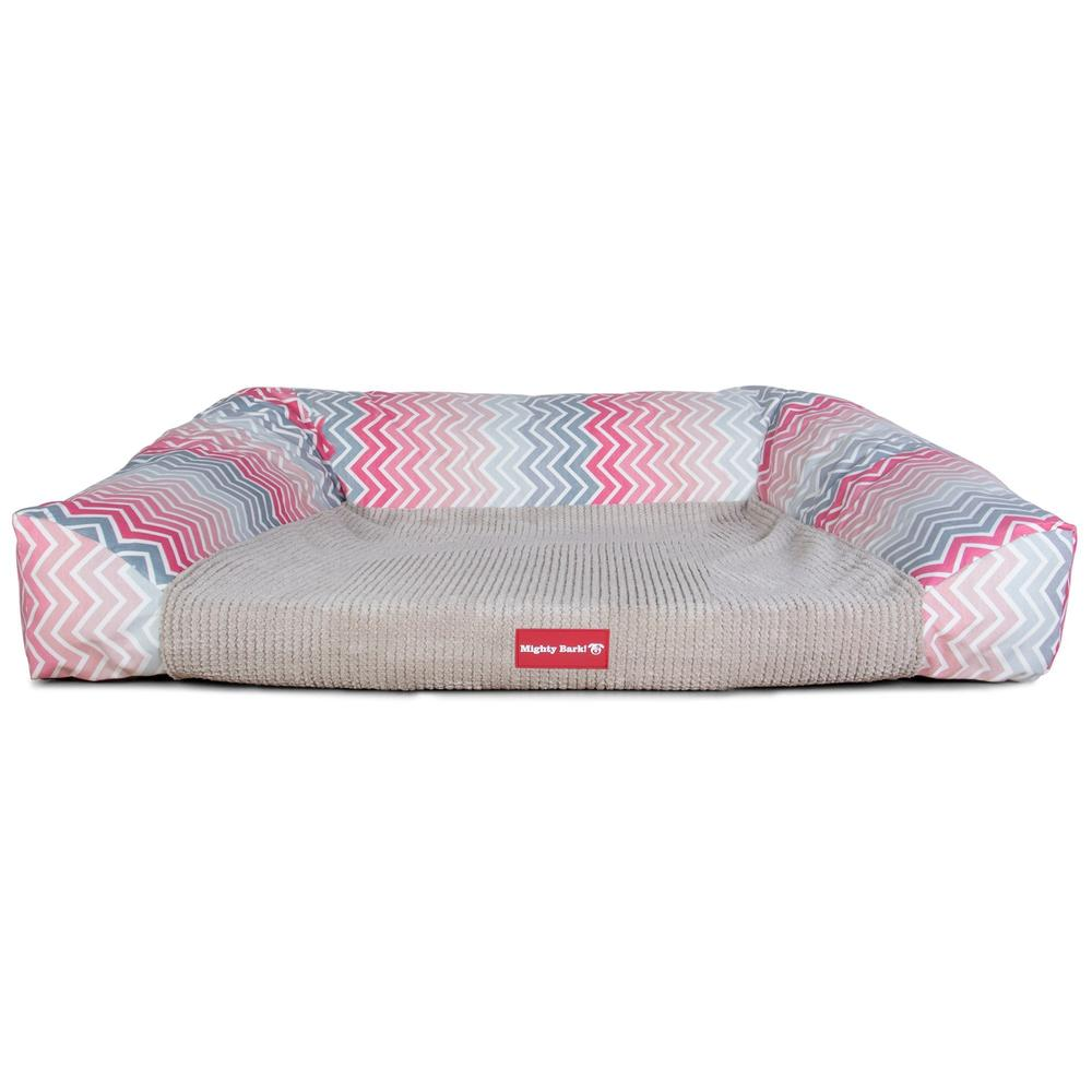 The-Sofa-Orthopedic-Memory-Foam-Sofa-Dog-Bed-Geo-Print-Chevron-Pink_4