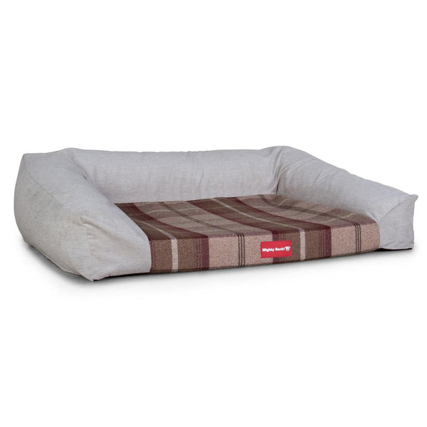 The-Sofa-Orthopedic-Memory-Foam-Sofa-Dog-Bed-Tartan-Mulberry_1