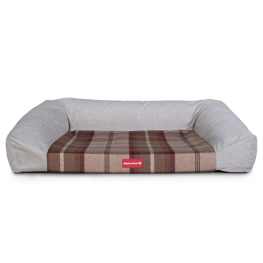 The-Sofa-Orthopedic-Memory-Foam-Sofa-Dog-Bed-Tartan-Mulberry_4