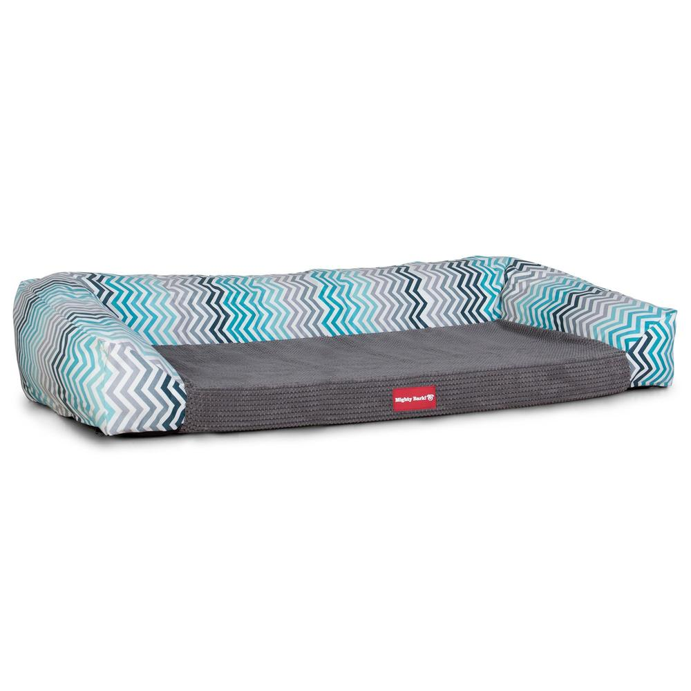 The-Sofa-Orthopedic-Memory-Foam-Sofa-Dog-Bed-Geo-Print-Chevron-Teal_5