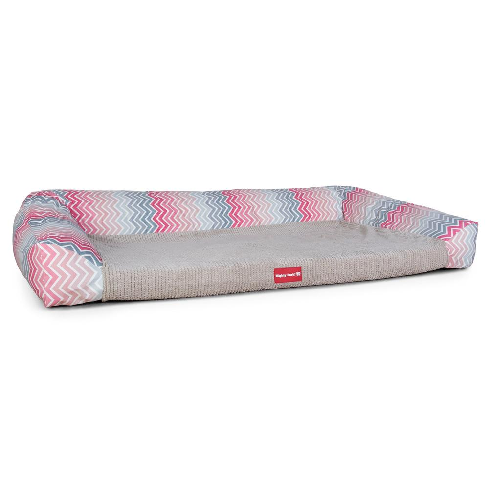 The-Sofa-Orthopedic-Memory-Foam-Sofa-Dog-Bed-Geo-Print-Chevron-Pink_5