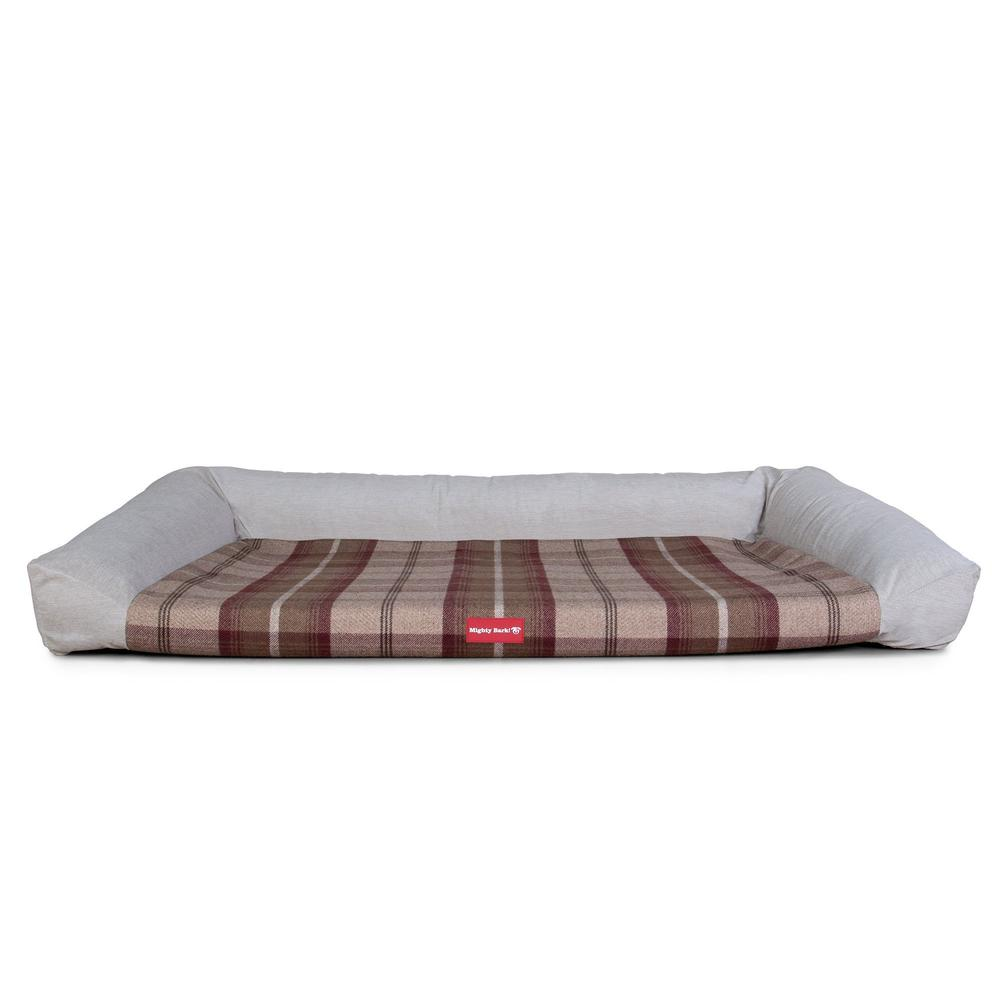 The-Sofa-Orthopedic-Memory-Foam-Sofa-Dog-Bed-Tartan-Mulberry_5