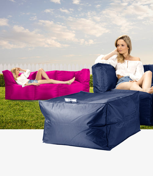 Modular sofa bean bag is available to buy in either 2 or 3 seater form.
