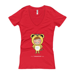 RM Single Tiger Women's V-Neck T-shirt