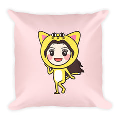 RM Single Cat Square Pillow