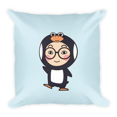 RM Single Penguin Square Pillow