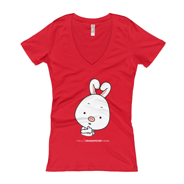 Thumbs Up Women's V-Neck T-shirt