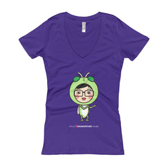 RM Single Grasshopper Women's V-Neck T-shirt