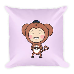 RM Single Monkey Square Pillow