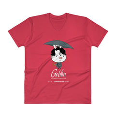 Goblin Umbrella V-Neck T-Shirt