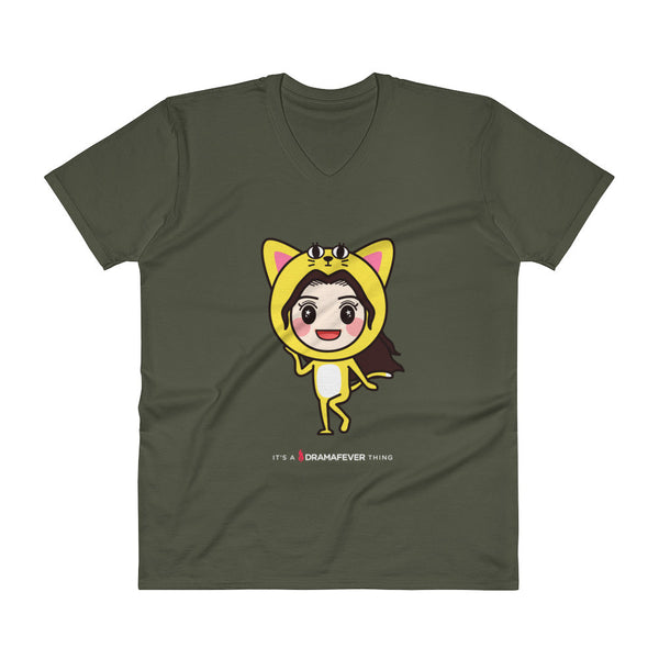RM Single Cat V-Neck T-Shirt