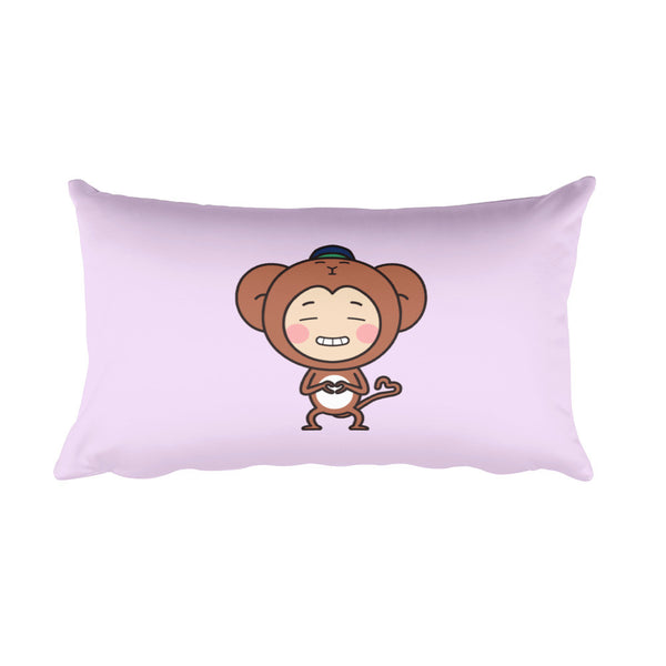RM Single Monkey Rectangular Pillow