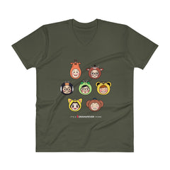 RM Heads V-Neck T-Shirt