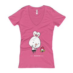 Hwaiting Women's V-Neck T-shirt