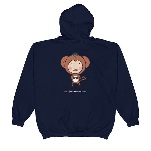 RM Single Monkey Unisex Zip Hoodie