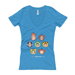 RM Heads Women's V-Neck T-shirt