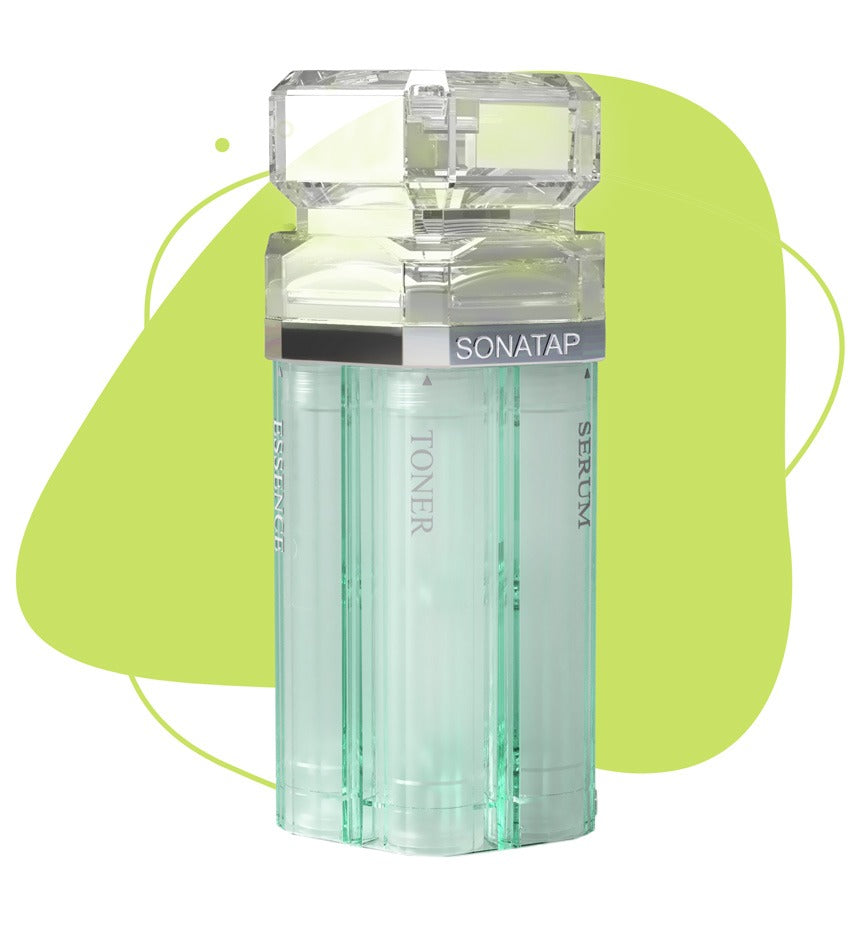 sonatap skincare device beauty tool refillable reusable recyclable