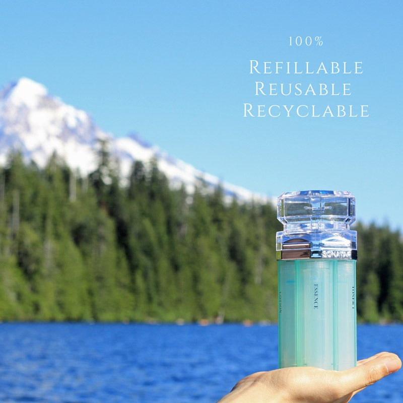 sonatap skincare device beauty sustainability refillable reusable recyclable