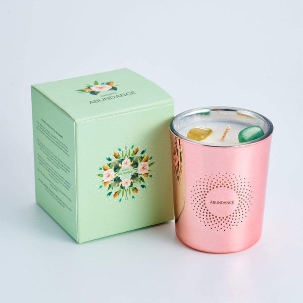 Abundance Crystal Scented Candle with Box