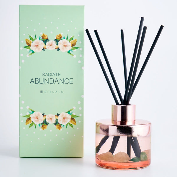 ABUNDANCE REED DIFFUSER WITH GEM STONE