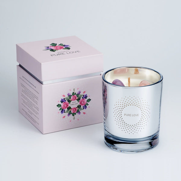 PURE LOVE CRYSTAL SCENTED CANDLE (L)