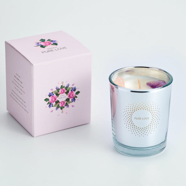 PURE LOVE CRYSTAL SCENTED CANDLE (S)