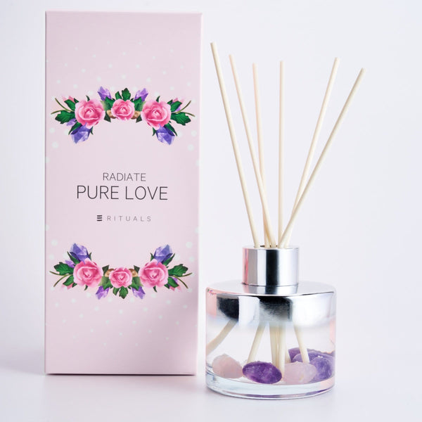 PURE LOVE REED DIFFUSER WITH GEM STONE