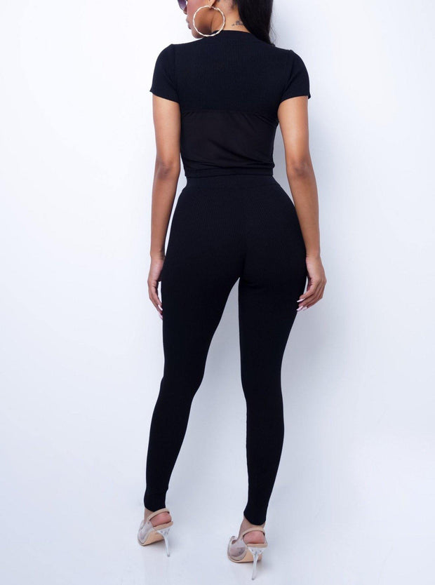 Love Every Second Ribbed Legging set | Women Legging Set | Mo's Unique Fashion LLC