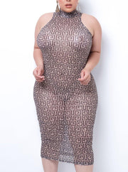 Hide No Secret Mesh Midi Dress  | Women Fashion Dress | Mo's Unique Fashion LLC
