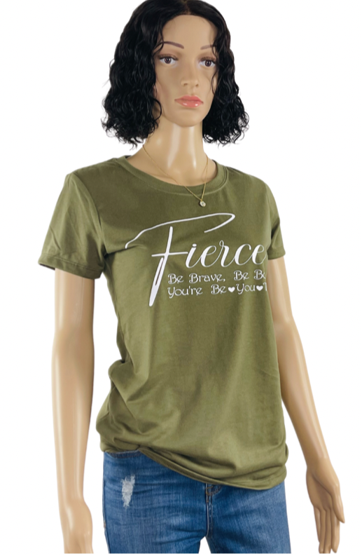 Fierce T- Shirt  | Women Fashion T Shirt | Mo's Unique Fashion LLCFierce T- Shirt  | Women Fashion T Shirt | Mo's Unique Fashion LLC