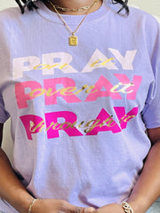 Pray on it T-Shirt Purple - Mo's UniQue Fashion