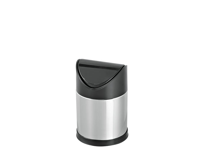Small Stainless Steel bin with  Swing Top
