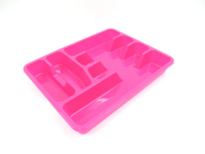 Large plastic colorful cutlery tray