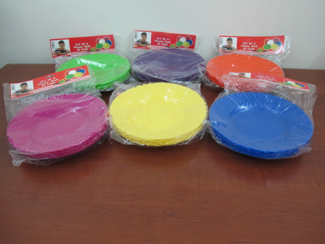 Colored Plastic Plates X6