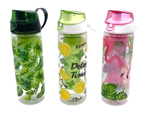 Decorated Plastic Drink Bottle with Infuser - HouzeCart